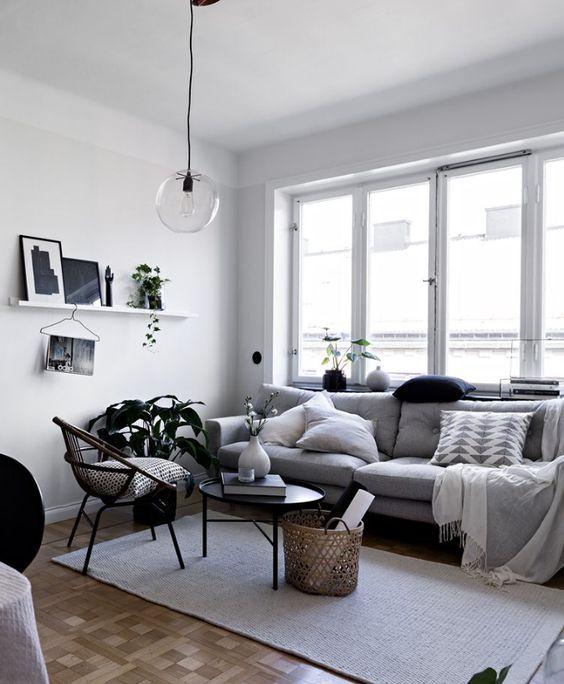 cozy monochrome small living room