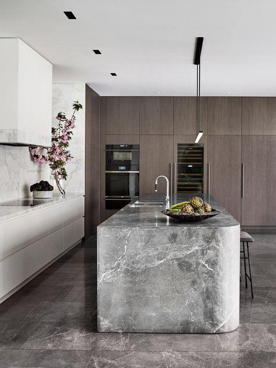 calm elegant minimalist kitchen