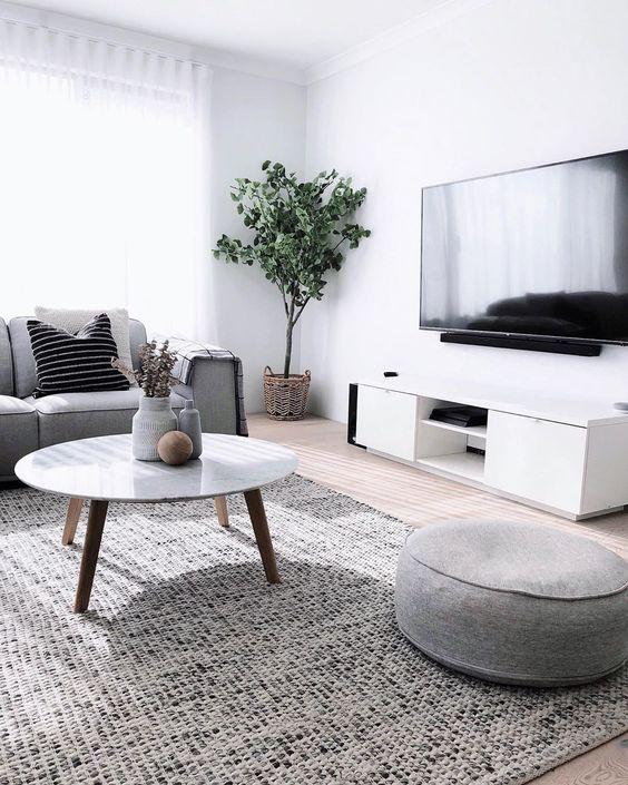 scandinavian monochrome living room ideas
