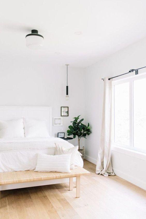 bright minimalist bedroom