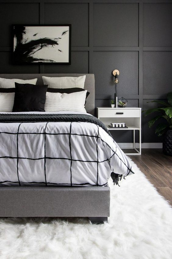 checkered pattern bed sheet
