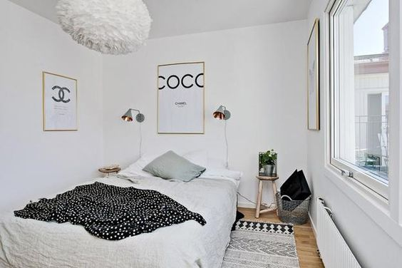 white small bedroom