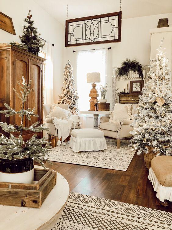 vintage christmas living room