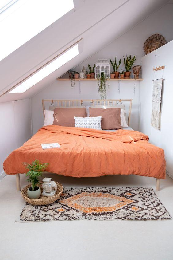 cheerful attic bedroom