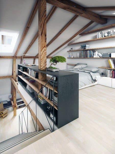 mature-look attic bedroom