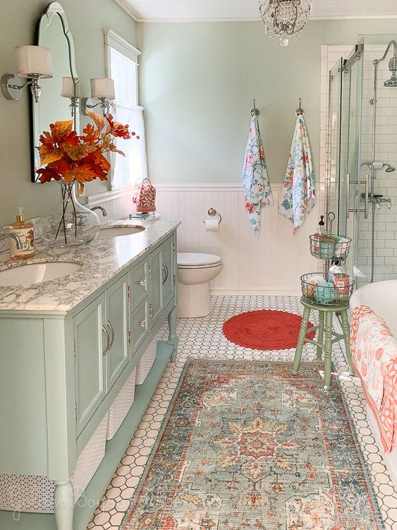 bathroom rug decor