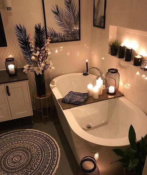 bathroom rack decor