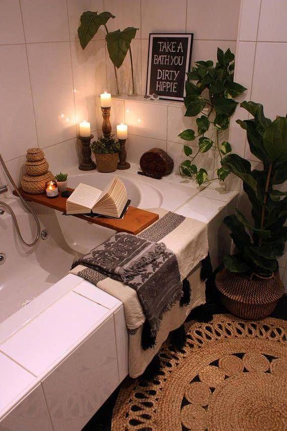 bathroom rack decor ideas