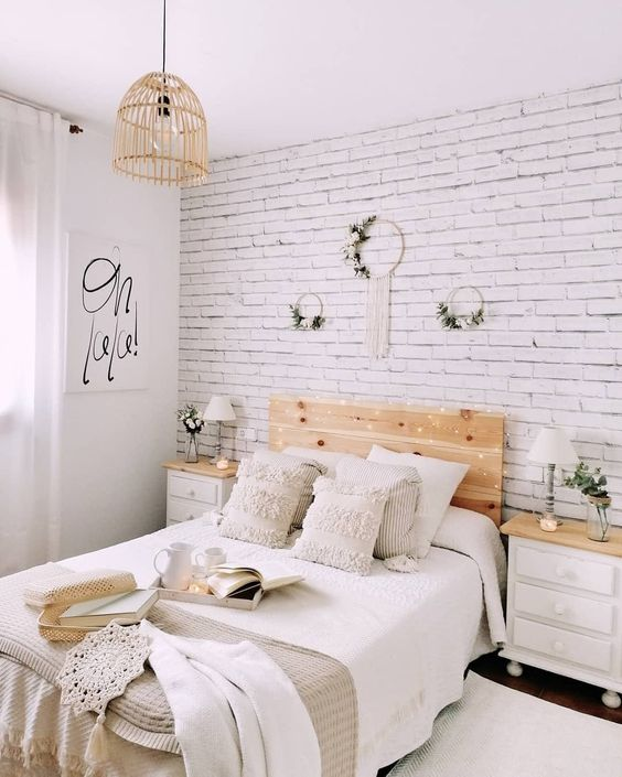 comfortable white bedroom