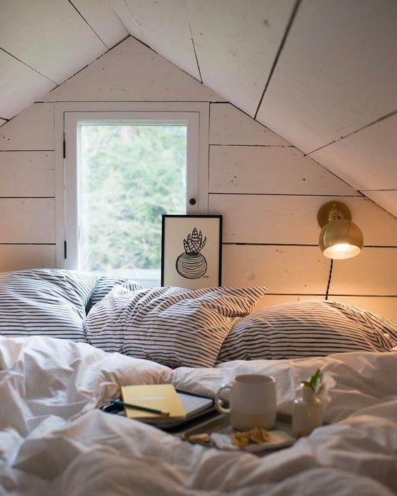 comfortable attic bedroom tip
