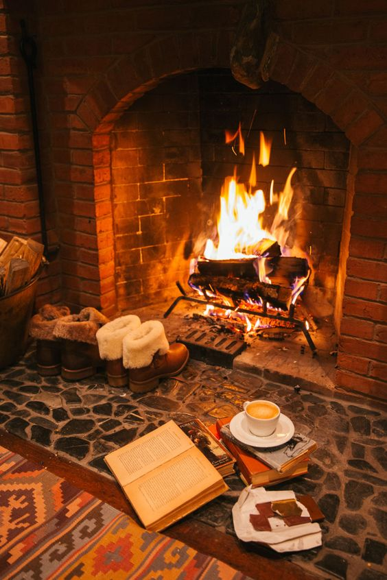 cozy fireplace spot