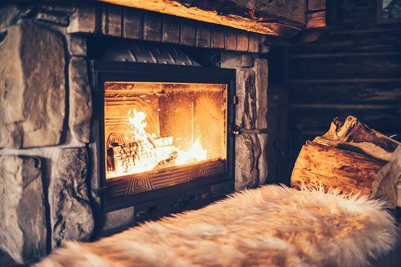 comfortable fireplace spot
