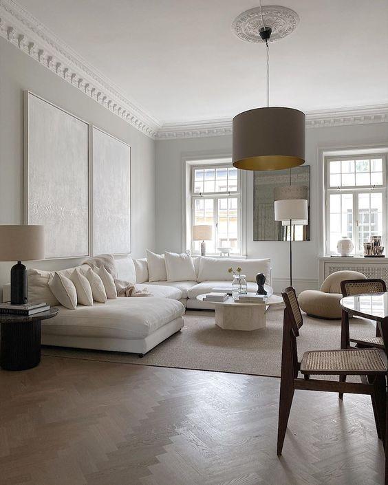 bright italian classic living room