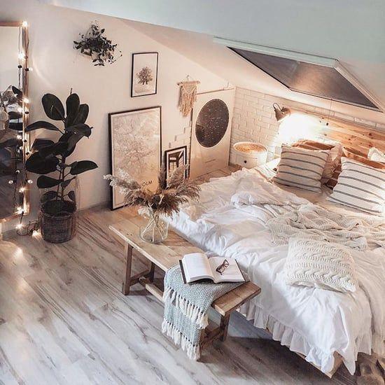 warm nuances attic bedroom