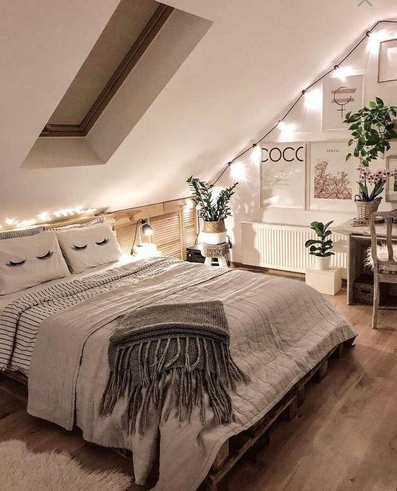soft look attic bedroom