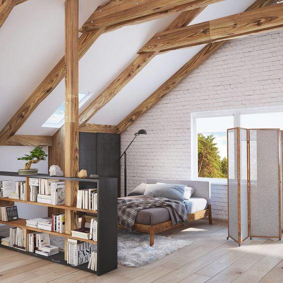 mature attic bedroom