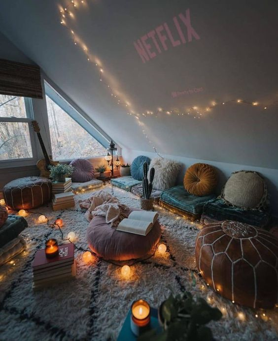 cozy attic for gathering