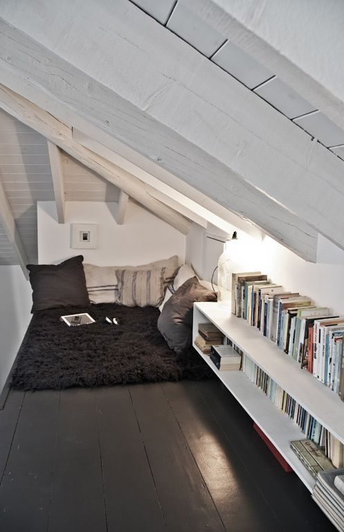 soothing attic decor