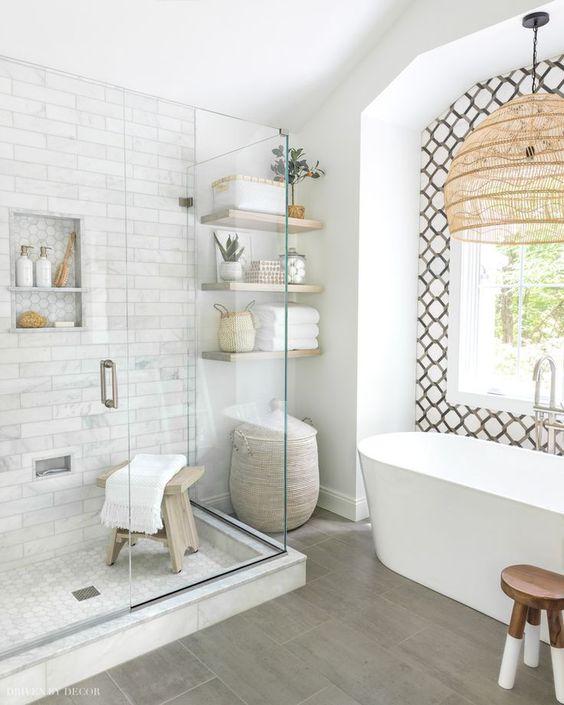 bathroom floating wall shelf