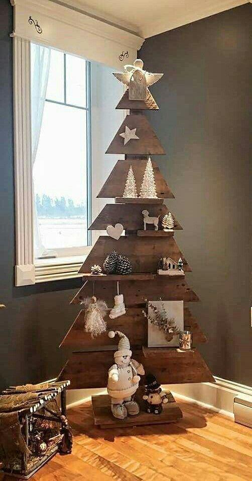 Christmas tree-shaped shelf