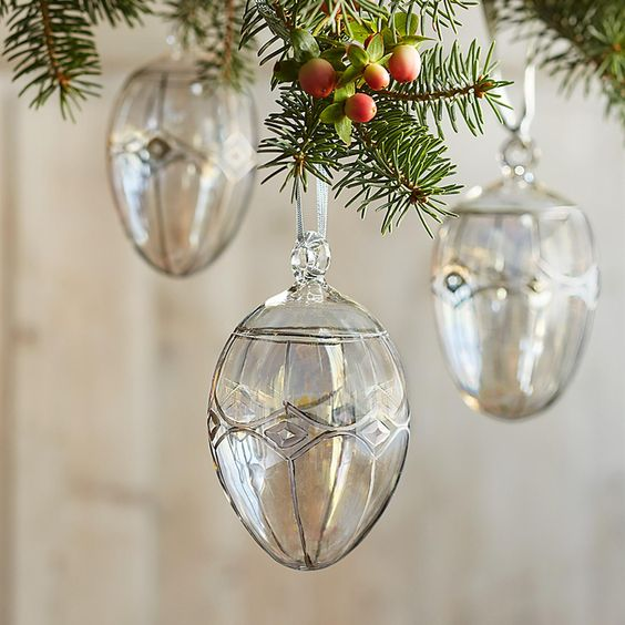 egg shaped glass ornament