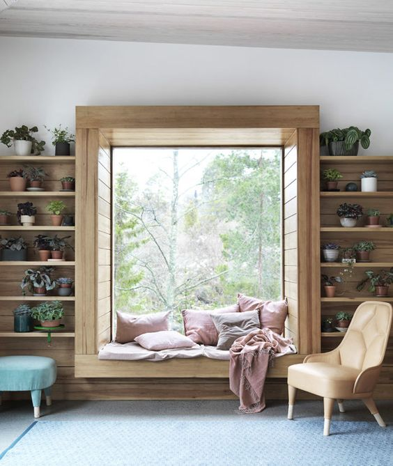 comfortable bay window seat