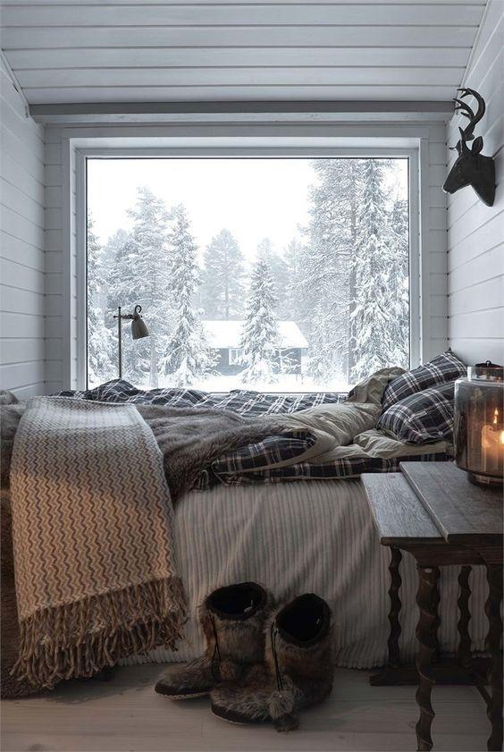 comfortable bedroom for winter