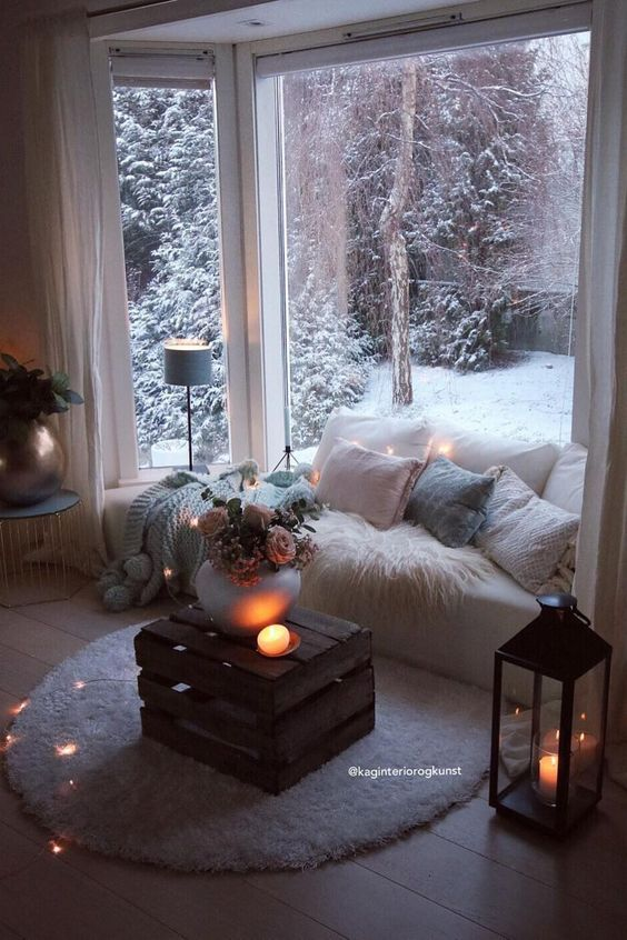 bay window seat for winter