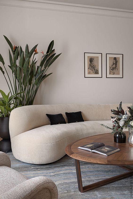 semicircular Italian sofa
