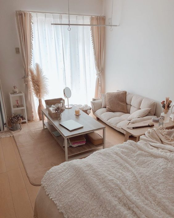 bright korean bedroom