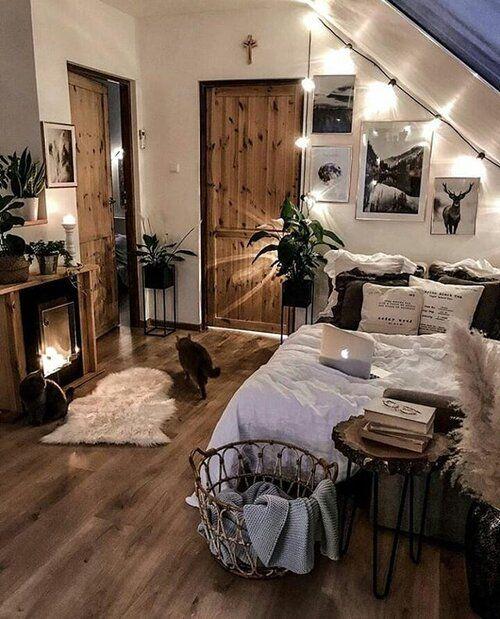 warm lighting for attic bedroom
