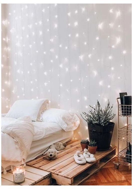 string light bedroom decor