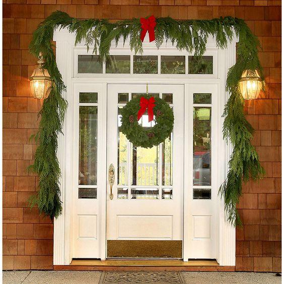 Garland on doorways