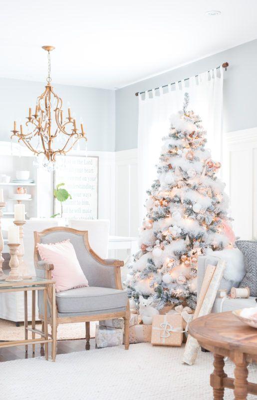 crystal chandelier for elegant christmas living room