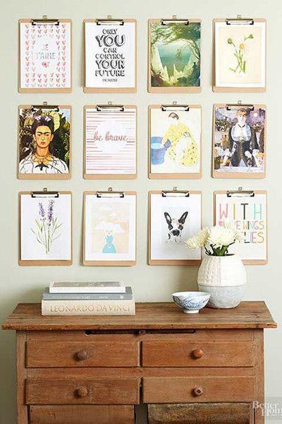 clipboard wall decor ideas