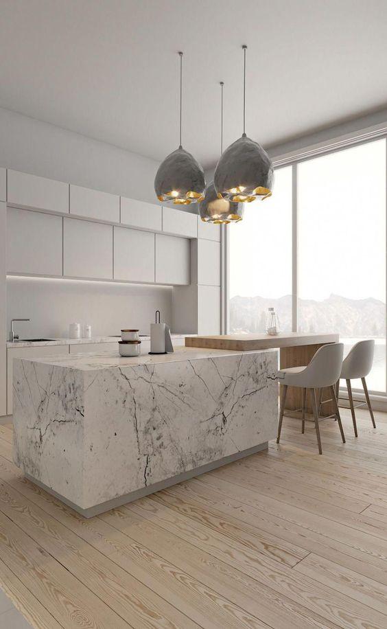 elegant and soft kitchen look