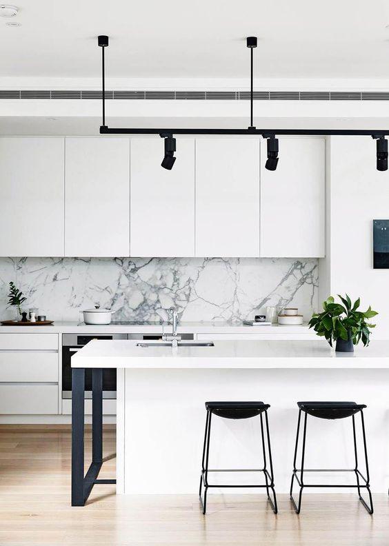 classy monochrome kitchen