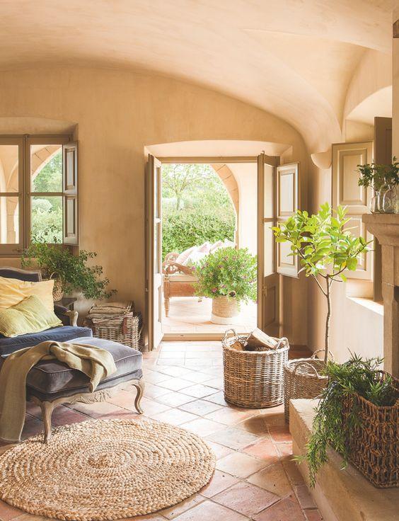 bright italian bedroom