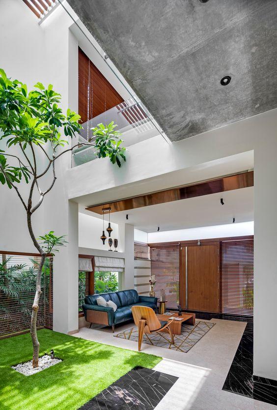 garden in modern house