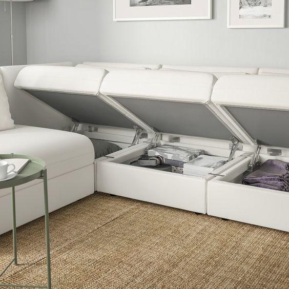 comfortable sofa with storage