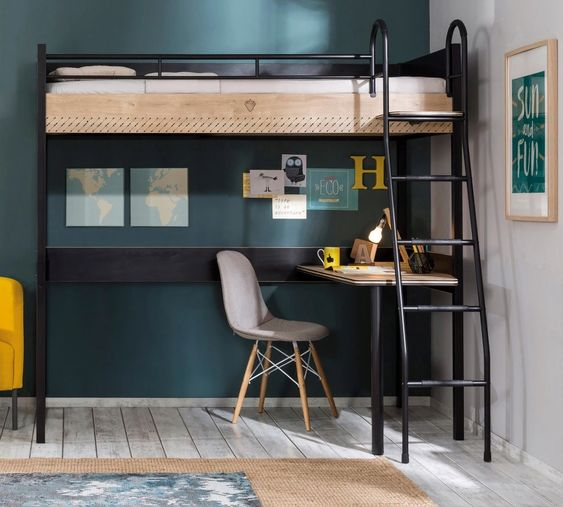 loft bed with workspace