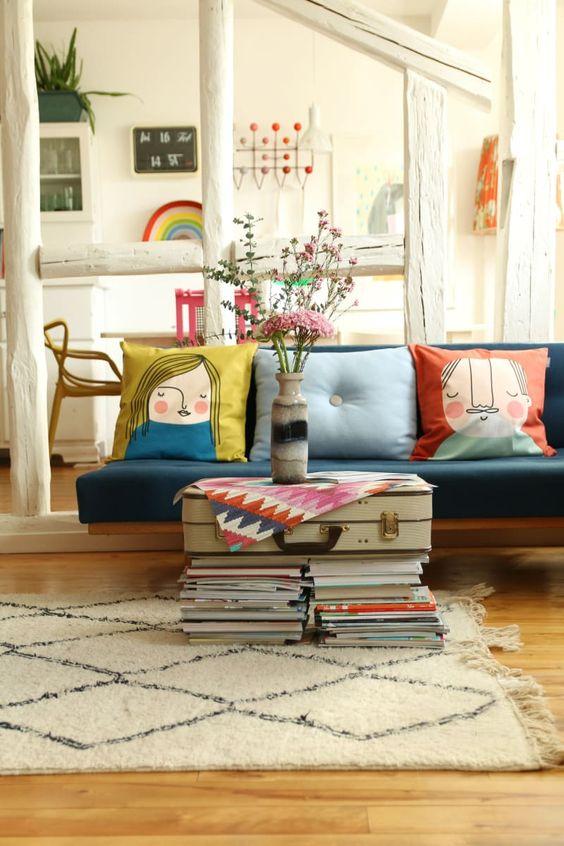 beautiful retro living room