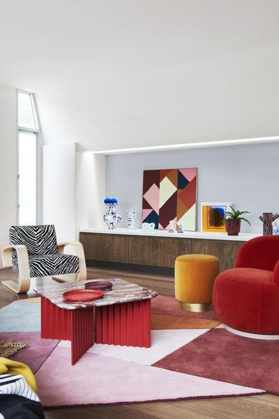 retro classic living room