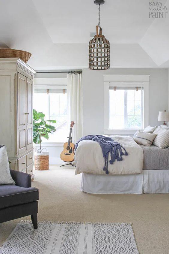 white spring bedroom