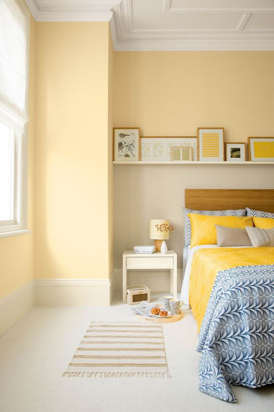 yellow spring bedroom