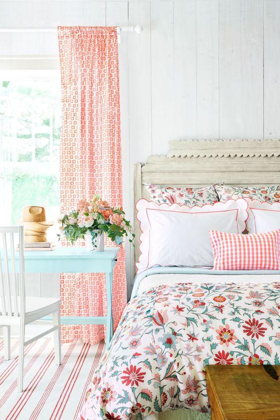 flower motif for spring bedroom