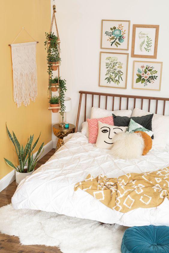 bright spring bedroom