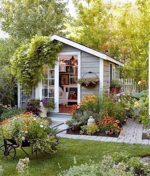 comfortable big garden