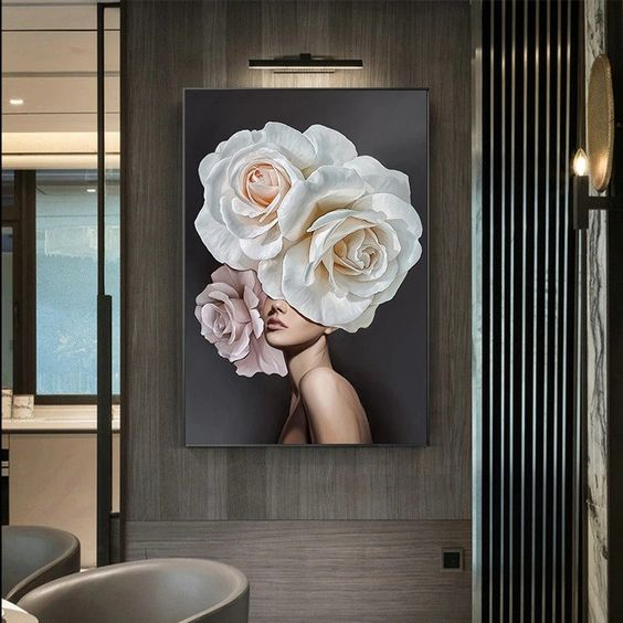 Pretty Flower Lady Posters