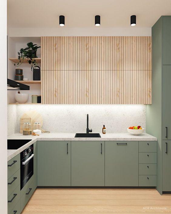 beautiful olive kitchen